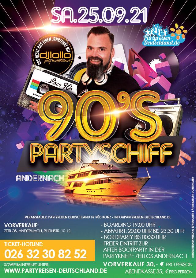 90s Partyschiff Andernach 2021