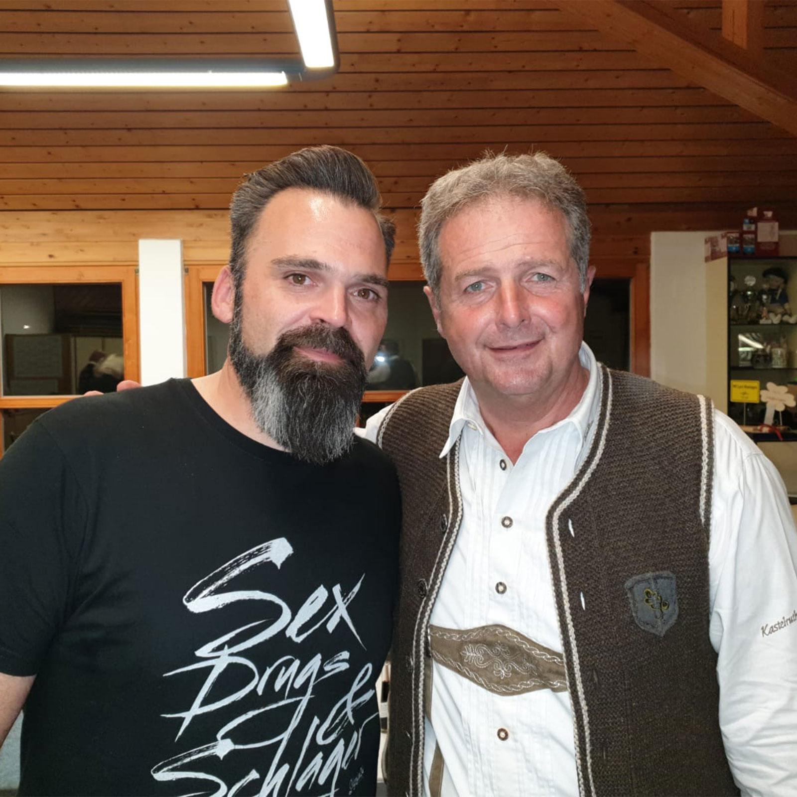 DJ Lollo mit Norbert Rier von den Kastelruther Spatzen