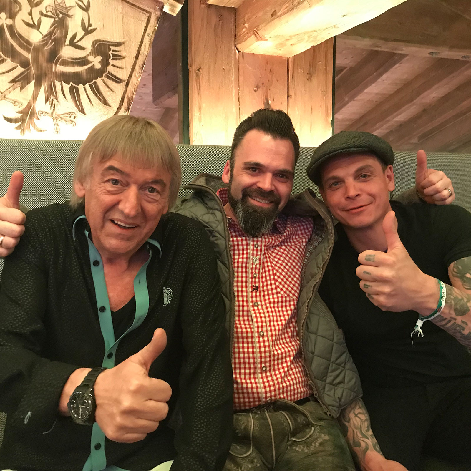 DJ Lollo mit Philipp Burger von Freiwild und Bernd Ulrich von den Amigos