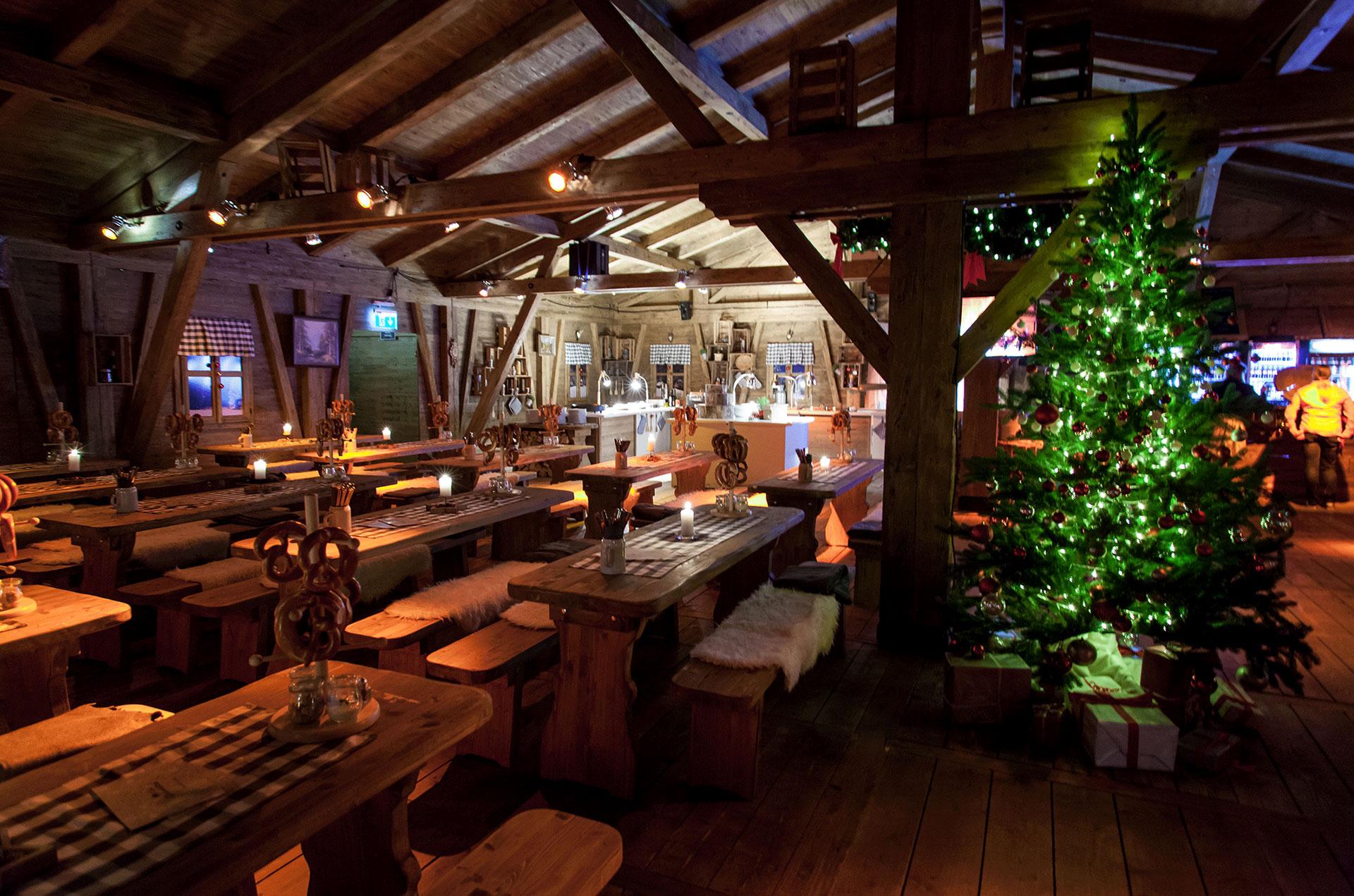 Nürnberger Winterhütten am Flughafen